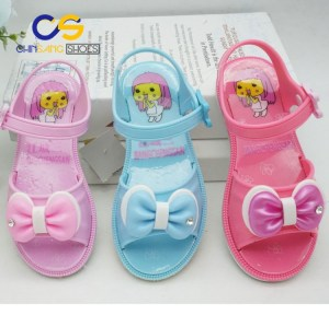 2017 Chinsang high quality PVC air blowing sandals for girls washable girl sandals