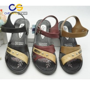 Top sale Chinsang PVC old lady sandal outdoor slipper for old lady 31767