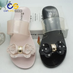 2017 Chinsang PVC air blowing women slippers jelly women sandals 19447