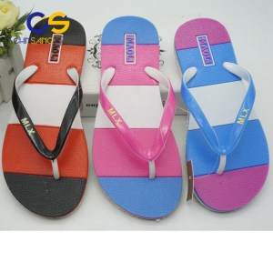 2017 hot sale PVC women flip flops casual women slippers 22225