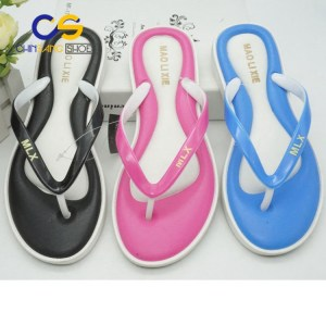 Wholesale cheap PVC women flip flops casual women slippers 22226