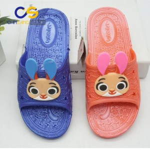 Wholesale price PVC slipper for girls and women washable girls sandal 19427
