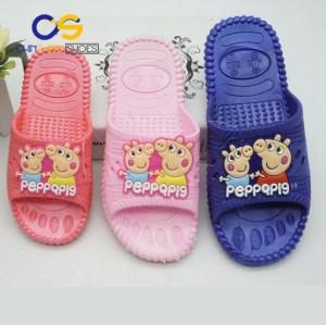 Chinsang cheap PVC slipper for girls indoor bedroom washable girls sandal 19430
