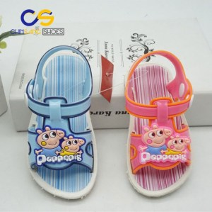 Wholesale price PVC sandals for girls and boys outdoor durable boys and girls sandal 31755