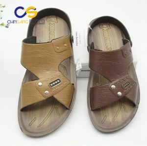 Chinsang PVC man sandals outdoor beach sandals for men with good quality