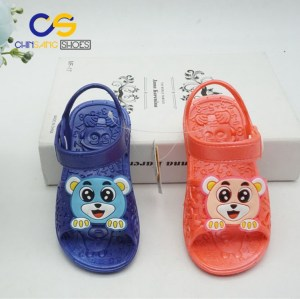 Hot sale cute sandals for kids cartoon PVC sandals for girls and boys