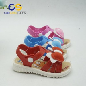 Hot sale cute sandals for kids durable PVC sandals for girls and boys