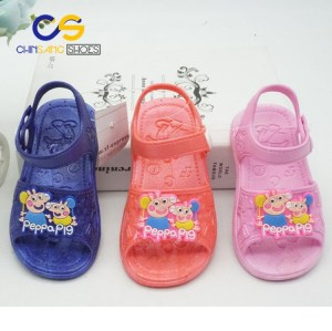 Low price cute sandals for kids cartoon PVC sandals for girls and boys