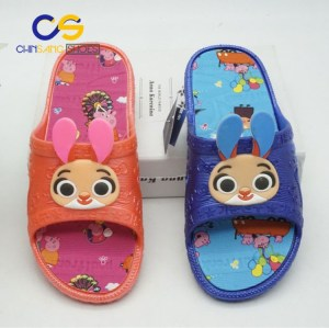 Cute PVC kids slipper sandals air blowing indoor outdoor slipper for boys and girls