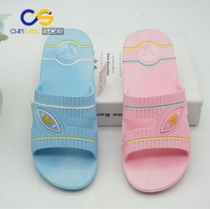 Simple indoor bedroom PVC girls and women slipper and sandals