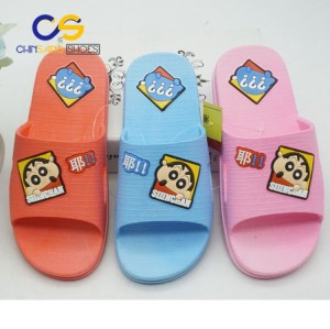 Cartoon washable indoor PVC slipper sandals for girls and women