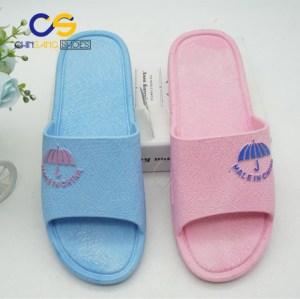 Air blowing indoor bedroom washable PVC women slipper sandals