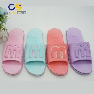 Comfort home indoor women slippers PVC casual slipper sandals for women
