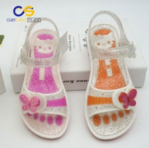 Popular girls summer outdoor sandals air blowing PVC sandals for girls