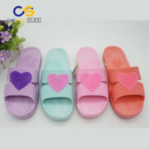 Soft home slipper for women PVC washable lady slipper