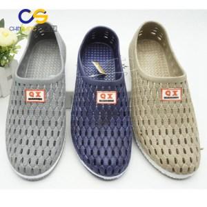 2017 PVC man clogs air blowing garden shoes for men