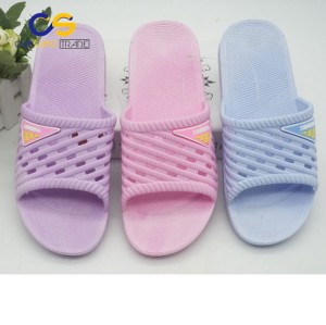 New design PVC bedroom slipper shoes for women