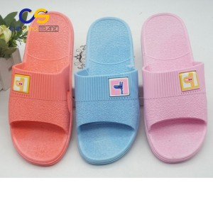 PVC air blowing shower bathroom indoor slippers for women