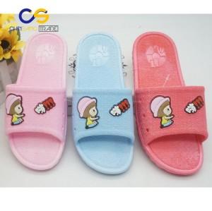 Casual indoor bedroom women slipper PVC summer slipper shoes for women