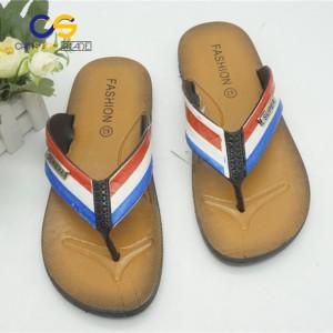 Low price PVC man outdoor beach flip flop slipper