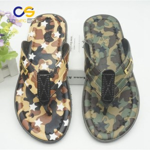 New design air blowing PVC man flip flops outdoor beach slipper for men