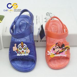 Wholesale price PVC air blowing kids sandals from Wuchuan