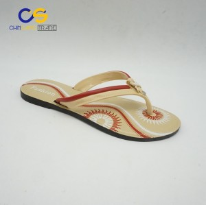 Fashion outdoor women flip flops PVC beach flip flops for female