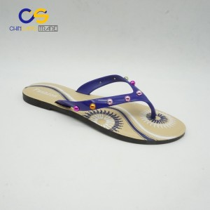 Chinsang trade PVC women flip flops casual outdoor women flip flop