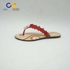 Hot sale summer PVC women flip flops outdoor fashion flip flops for lady