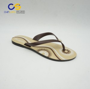 Low price PVC outdoor women flip flops casual flip flops for lady