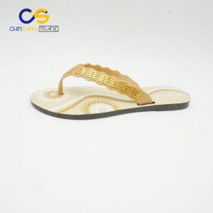 New design PVC women flip flops summer outdoor flip flops for lady