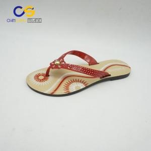 Top popular women summer flip flops outdoor durable flip flops for lady
