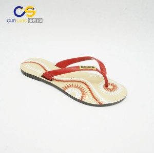 Promotional PVC women flip flops summer outdoor flip flops for female