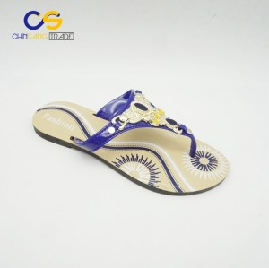 Cheap wholesale outdoor durable PVC slipper women flip flop