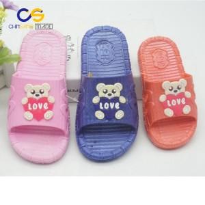 Cartoon PVC girls and boys indoor outdoor slipper sandals from Wuchuan