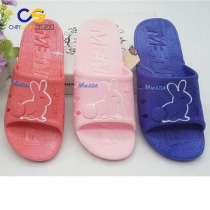 Soft PVC indoor bedroom women slipper anti skid washable slipper for big girls
