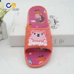 Factory supply soft indoor house slipper for girls