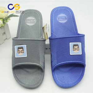 Simple PVC men house slipper indoor bedroom washable slipper for men