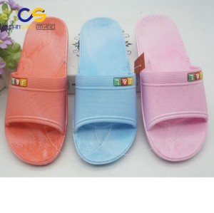 Promotional PVC indoor bedroom washable women slipper shoes