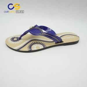 Fashion PVC women summer slipper shoes from Wuchuan
