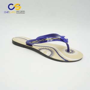 Chinsang trade PVC women slipper shoes outdoor beach slipper for lady