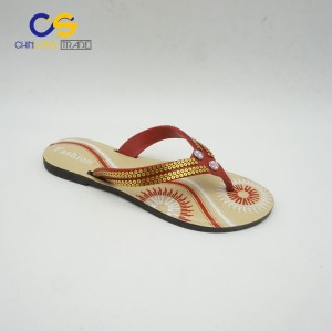 Wholesale price air blowing PVC women outdoor slipper shoes