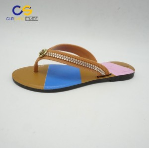 Wholesale cheap PVC women outdoor flip flops from Wuchuan