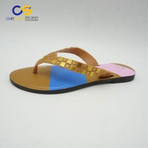 Simple women summer flip flops outdoor beach flip flops for lady