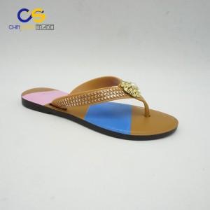 Latest design women flip flops cheap new fashion flip flop for women