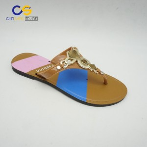 Casual outdoor women fashion PVC flip flop shoes