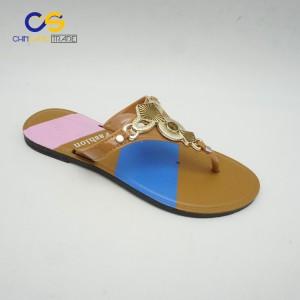 Casual outdoor women fashion PVC flip flop shoes