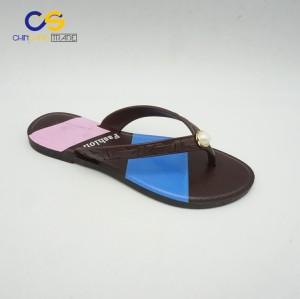 Factory supply PVC simple women flip flops