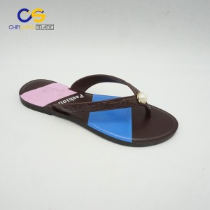 Factory supply PVC simple women flip flops