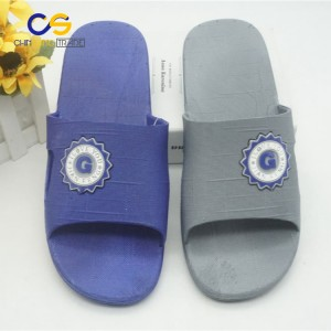 Comfortable PVC indoor bedroom slide sandal for men